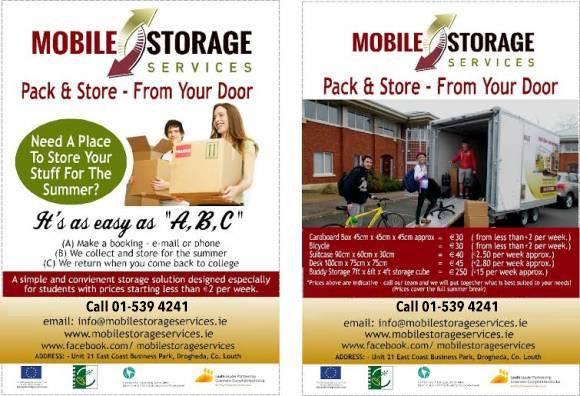 Dublin student self storage units